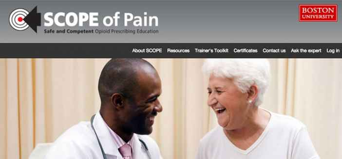 New Website for BU's Scope of Pain