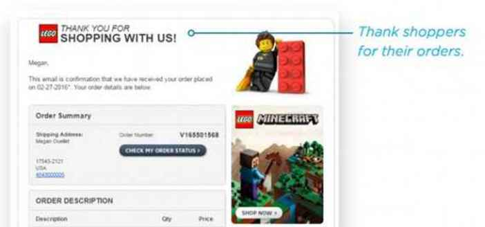Order confirmation emails can build loyalty, sell more